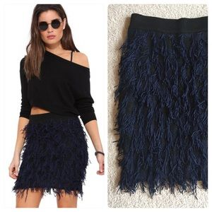 NWOT J.O.A. Fringe Skirt